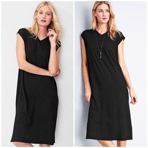 Eileen Fisher Viscose Jersey Midi Dress | J764